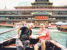 Willie and Jack on their first trip to China